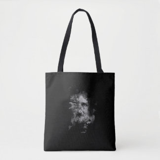 Edgar Allan Poe in Smoke with Raven - Nevermore Tote Bag