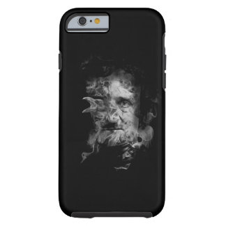 Edgar Allan Poe in Smoke with Raven Tough iPhone 6 Case