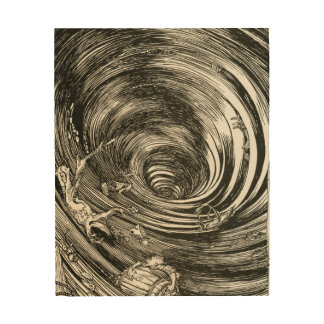 Edgar Allan Poe Maelstrom illus by Rackham Wood Print