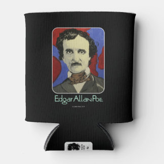 'Edgar Allan Poe' on a Can Cooler