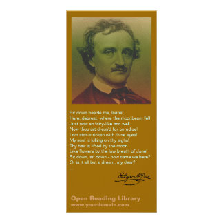 Edgar Allan Poe Personalized Rack Card