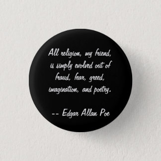 Edgar Allan Poe Quote 3 Cm Round Badge