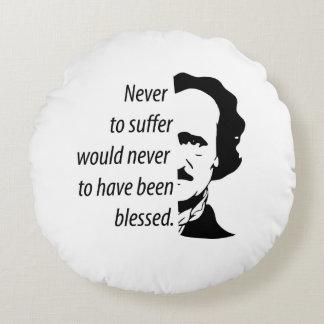 Edgar Allan Poe Round Cushion