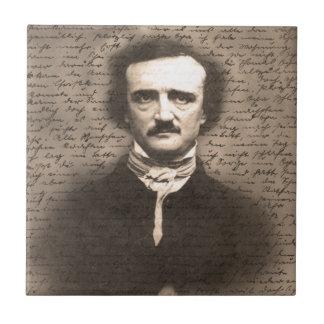 Edgar Allan Poe Small Square Tile