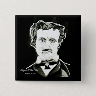 Edgar Allan Poe Square Button