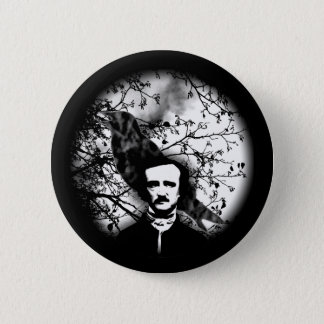 Edgar Allan Poe 'The Raven' 6 Cm Round Badge
