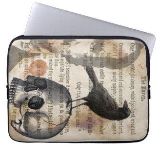Edgar Allan Poe The Raven & Skull Laptop Sleeve