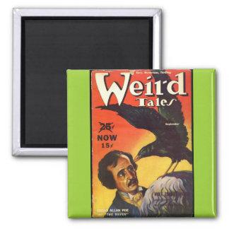 Edgar Allan Poe Weird Tales Cover Refrigerator Magnet
