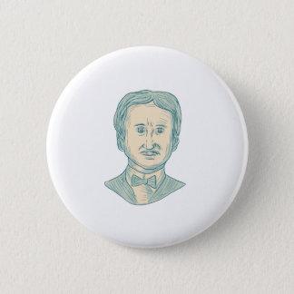 Edgar Allan Poe Writer Drawing 6 Cm Round Badge