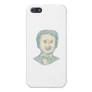 Edgar Allan Poe Writer Drawing Case For iPhone 5/5S