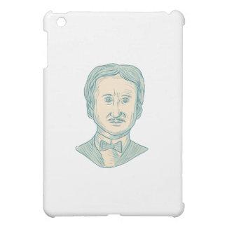 Edgar Allan Poe Writer Drawing iPad Mini Case