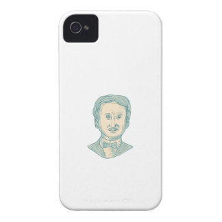 Edgar Allan Poe Writer Drawing iPhone 4 Covers