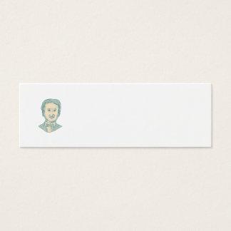 Edgar Allan Poe Writer Drawing Mini Business Card