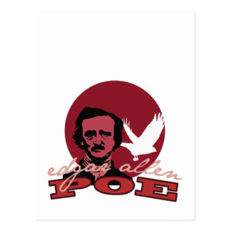 Edgar Allen Poe 2 Postcard