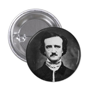 Edgar allen poe 3 cm round badge