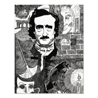 Edgar Allen Poe Art Photo