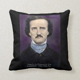 """Edgar Allen Poe """"Enthusiasm"""" Quote Throw Pillow Pillows"""