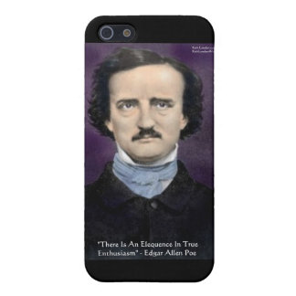"Edgar Allen Poe ""Enthusiasm"" Wisdom Quote Gifts Cover For iPhone 5/5S"