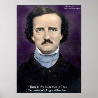 "Edgar Allen Poe ""Enthusiasm"" Wisdom Quote Poster Print"