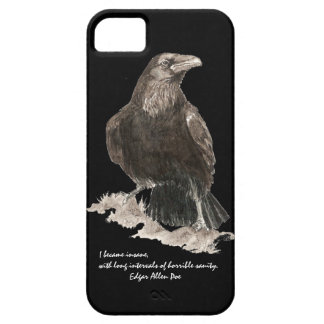 Edgar Allen Poe Insanity Quote Watercolor Raven iPhone 5 Covers