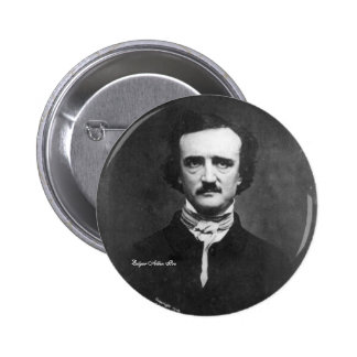 Edgar Allen Poe, pin-on 6 Cm Round Badge