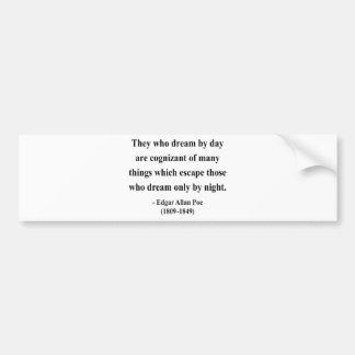 Edgar Allen Poe Quote 3a Bumper Sticker