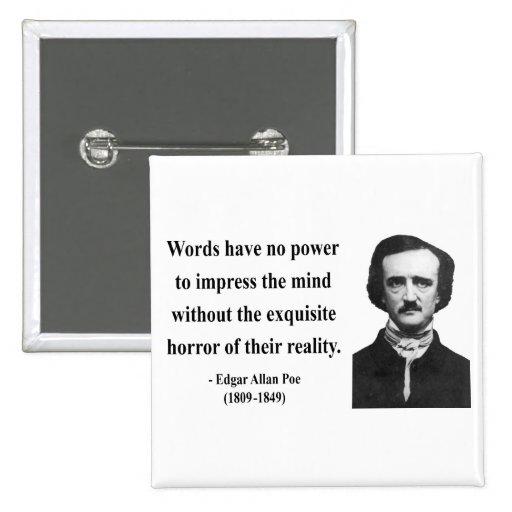Edgar Allen Poe Quote 4b Button