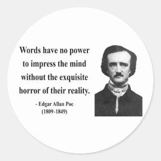 Edgar Allen Poe Quote 4b Round Sticker