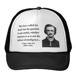 Edgar Allen Poe Quote 9b Hat