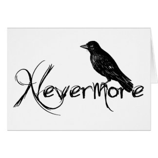 Edgar Allen Poe Raven Nevermore Greeting Card