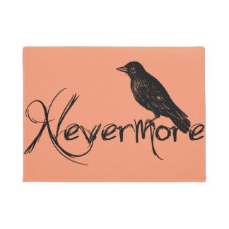 Edgar Allen Poe Raven Nevermore Halloween Doormat