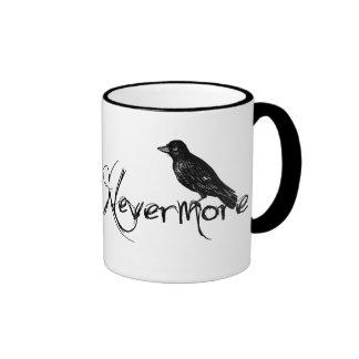 Edgar Allen Poe Raven Nevermore Halloween Ringer Mug