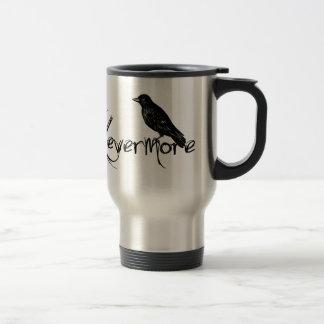 Edgar Allen Poe Raven Nevermore Halloween Stainless Steel Travel Mug