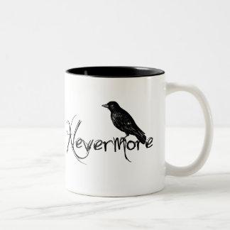 Edgar Allen Poe Raven Nevermore Halloween Two-Tone Mug
