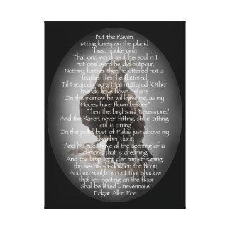 Edgar Allen Poe Raven Poem, Nevermore Quote Gallery Wrap Canvas