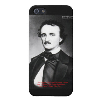 "Edgar Allen Poe ""Religion Is"" Wisdom Quote Gifts iPhone 5/5S Cover"