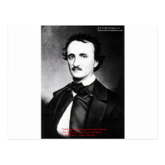 "Edgar Allen Poe ""Religion Is"" Wisdom Quote Gifts Postcard"