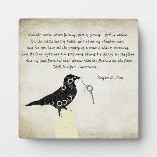 Edgar Allen Poe Table Decor Plaque