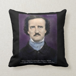"""Edgar Allen Poe """"The Raven"""" Quote Throw Pillow by  Throw Pillow"""