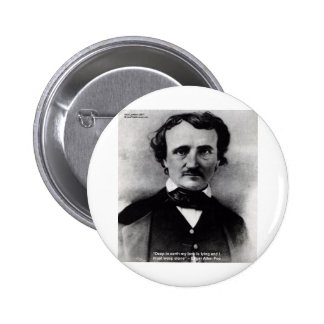 Edgar Allen Poe Weep Alone Love Quote Gifts Buttons
