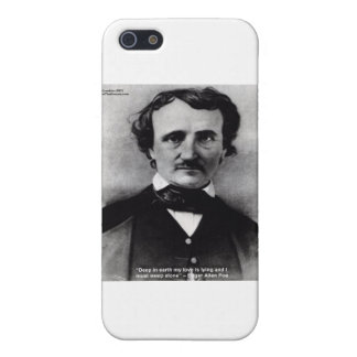 "Edgar Allen Poe ""Weep Alone"" Love Quote Gifts iPhone 5/5S Cases"