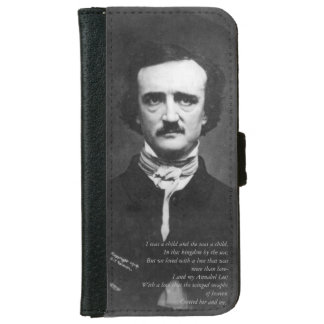 Edgar Allen Poe with Quote iPhone 6 Wallet Case