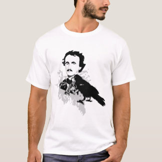Edgar Allen Poe with Raven T-Shirt