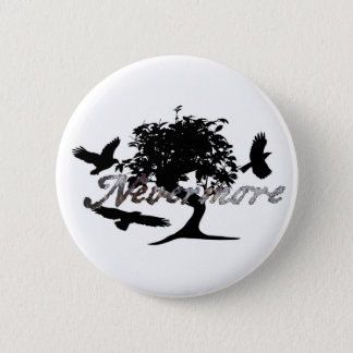 Edgar Allen Poe's The Raven 6 Cm Round Badge