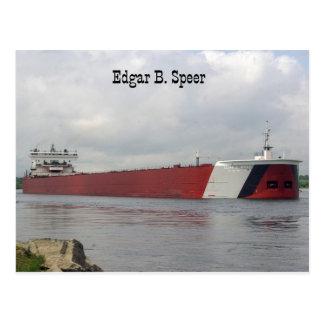 Edgar B. Speer post card