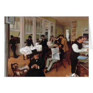 EDGAR DEGAS- A cotton office in New Orleans 1873 Card