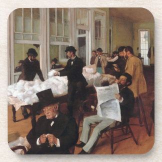 EDGAR DEGAS- A cotton office in New Orleans 1873 Coaster