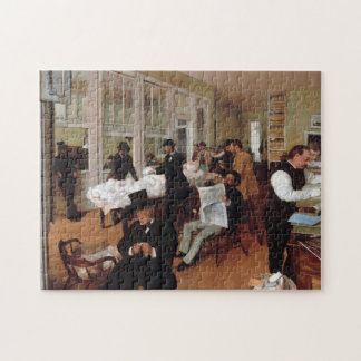 EDGAR DEGAS- A cotton office in New Orleans 1873 Jigsaw Puzzle