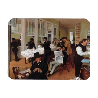 EDGAR DEGAS- A cotton office in New Orleans 1873 Magnet