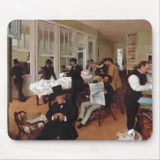 EDGAR DEGAS- A cotton office in New Orleans 1873 Mouse Pad